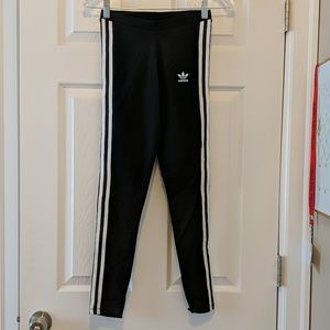 Adidas Black Cotton Leggings XS